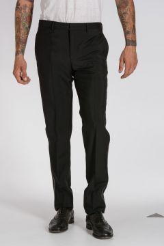 Pantaloni in Lana e Mohair con Dettaglio Catena