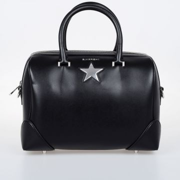 LUCREZIA Leather Bowler Bag