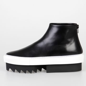 5 cm Leather PLATFORM MID SKATE Wedges