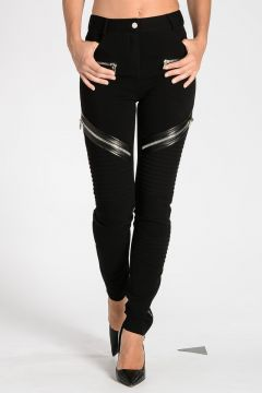 Pantaloni Biker in Viscosa Stretch