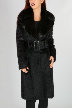 Virgin Wool blend Coat With Fur