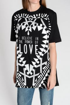 T-shirt I BELIEVE IN THE POWER OF LOVE In Cotone