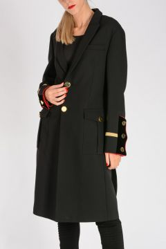 Wool Gold Tone Buttons Coat