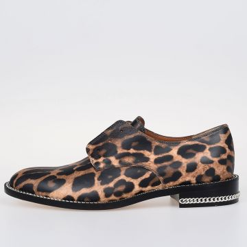 Mocassino DERBY DOUBLE CHAIN in Pelle Stampata