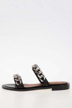 Leather slipper With Chain