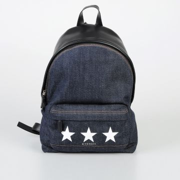 Leather & Denim Backpack