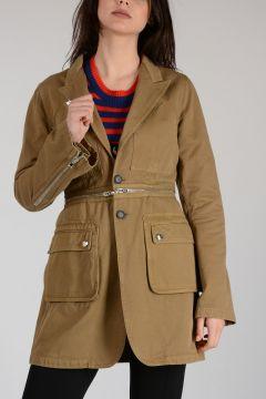 Cotton jacket With Detachable Part