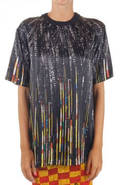 Chains Printed Silk T-Shirt