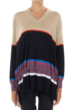 Striped Wool Oversize Sweater