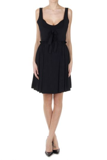 Flared Dress with Ribbon