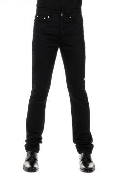 Jeans in Denim con Ricamo Stelle 17 cm