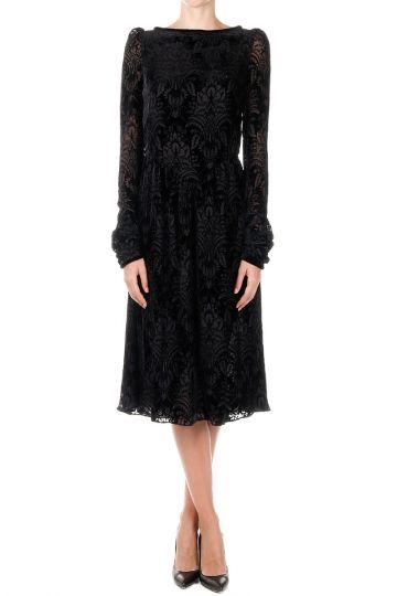 Mixed Silk  Dress ROBE