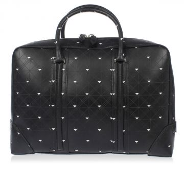 Geo Print Leather Business Bag