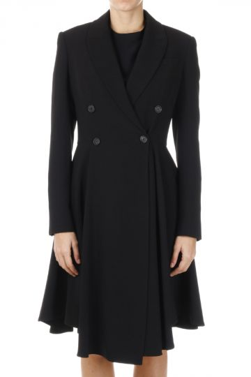 Stretch Double Breasted Coat