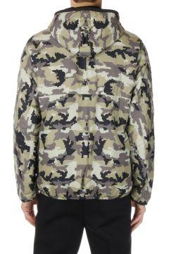 Giubbotto Camouflage in Tessuto Tecnico