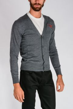Embroidred Wool Cardigan