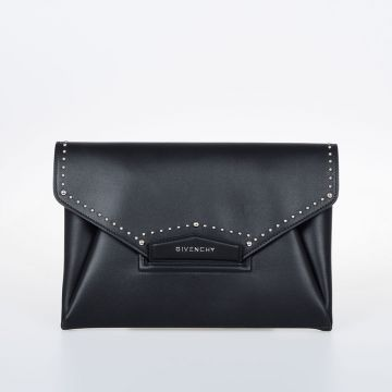 ANTIGONA Studded Leather Clutch