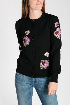 Wool embroidery Cardigan