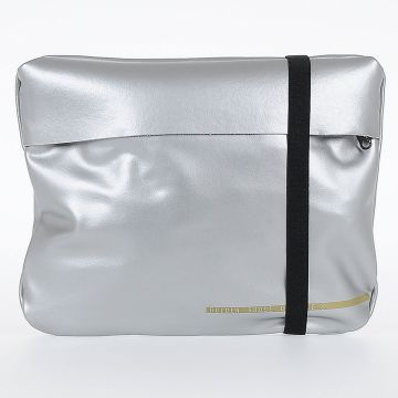 Silver Fabric Duffle Bag