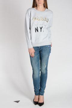 PARIS MILAN NYC  Round Neck Sweatshirt