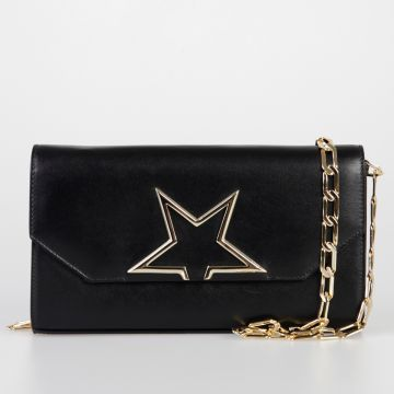 Leather VEDETTE Bag with Chain