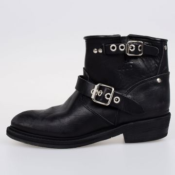 4 cm Leather BIKER-S Ankle Boots