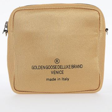 Golden Fabric Shoulder Bag