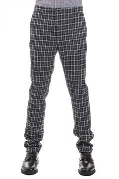 Pantaloni a Quadri Misto Lana 18 cm