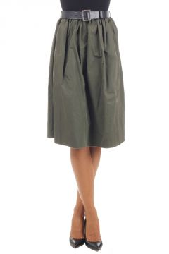 TERRY Skirt with Leather Belt