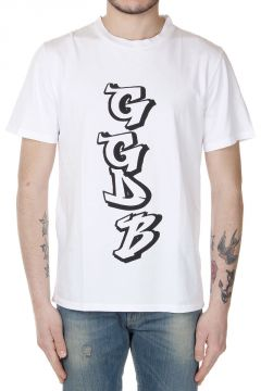 T-Shirt Girocollo con Stampa GGDB