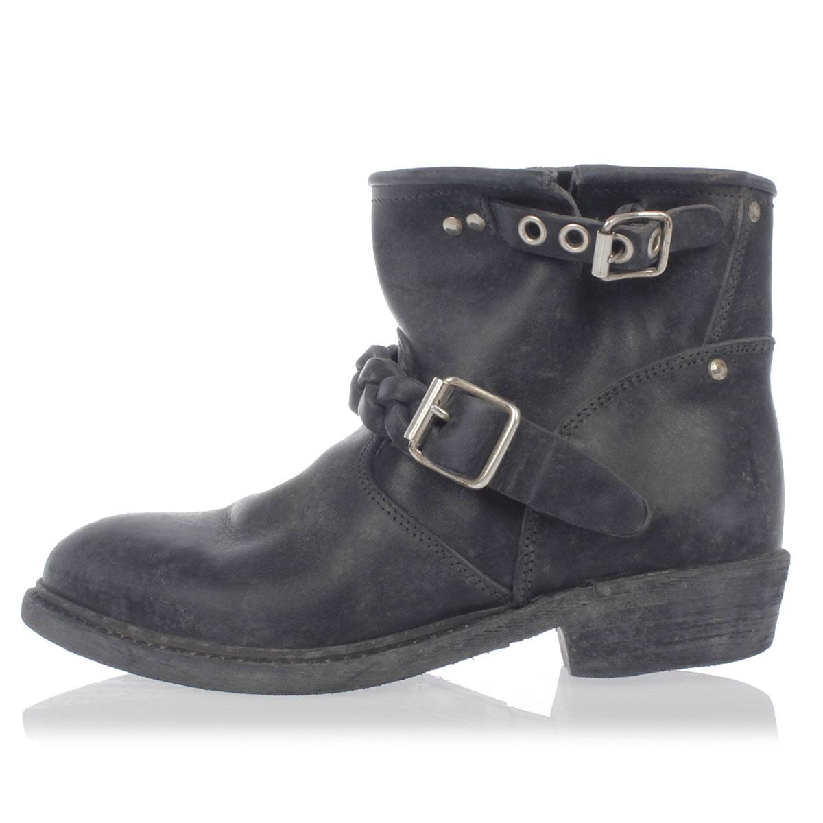 golden goose women leather biker boot with buckles glamood outlet. Black Bedroom Furniture Sets. Home Design Ideas