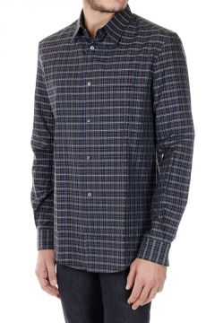 Popeline Cotton Checked Shirt