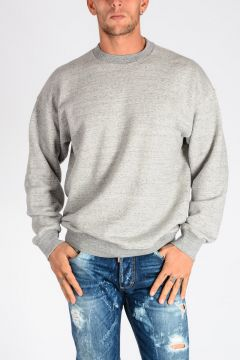 Embroidered Back Cotton Jersey Sweatshirt