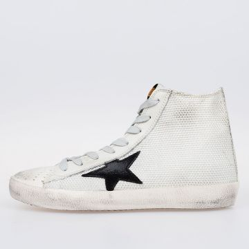 Woven Rope & Leather FRANCY Sneakers