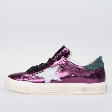 Sneakers MAY in Pelle Metallizzata