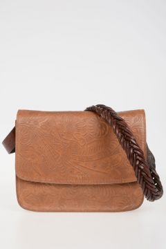 Leather Bag with woven Strap