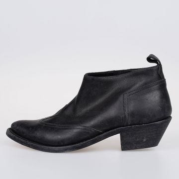 4cm Leather ASIA Ankle Boots