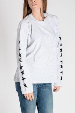T-shirt con Stampa su Manica