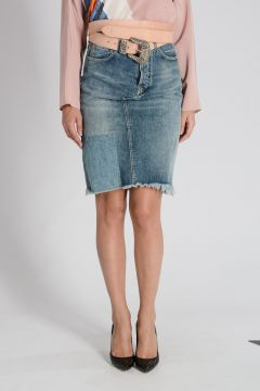 Denim JENNIFER Skirt with Belt