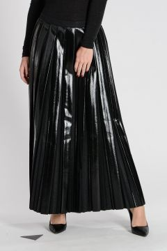 Wool blend Plissè Long Skirt