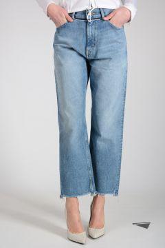 Jeans KOMO in Denim di Cotone 21 cm