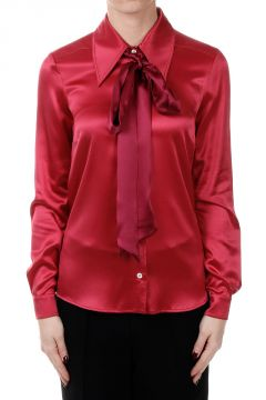 Camicia Satin in Misto Seta