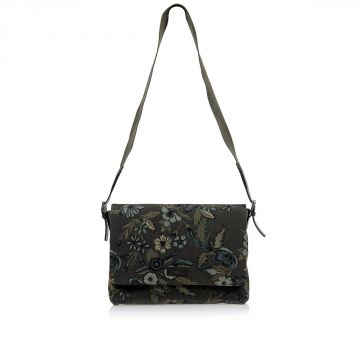 Floral Printed Fabric Messenger Bag