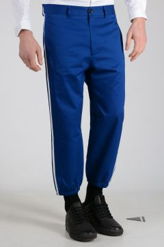 Cotton Pants with Lateral Stripes
