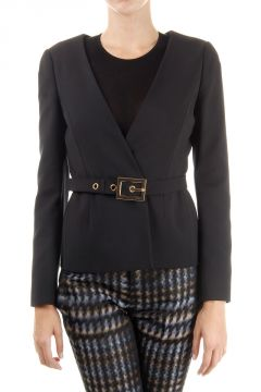 Cotton blazer with  belt
