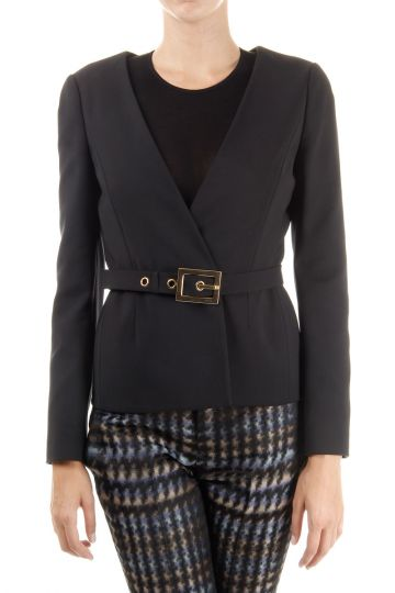 Cotton blazer with  belt