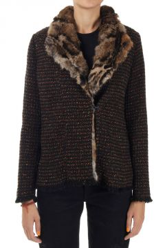 Jacket with Lapin Fur