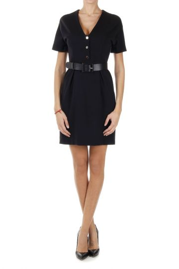 Wool Dress with leather belt