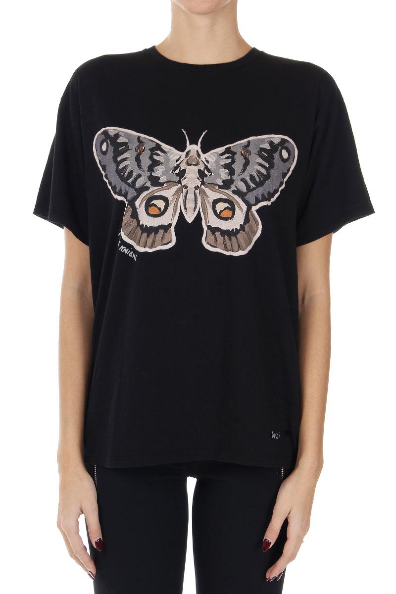 gucci donna tshirt con stampa farfalla glamood outlet
