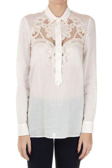 Camicia in cotone con ricamo